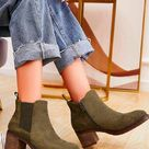 Suede Pull On Ankle Zip Heel Boots [Pack of 12] - Green