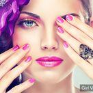 Dress and polish your nails with pink nail polish gel