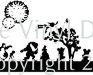 Disney silhouettte skyline features mickey mouse bambi   Etsy