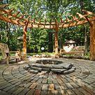 Feuerstelle im Garten bauen - 49 Ideen mit Sitzgelegenheit auf Terrasse