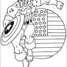 Ausmalbilder Captain America 1