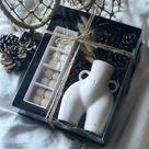 Booty Vase & Bubble Candle Gift Set - Black Vase
