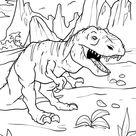 Malvorlage Tyrannosaurus Rex | Dinosaurier - Kostenlose Ausmalbilder