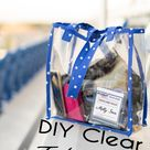 Sew a Clear Bag - DIY Vinyl Stadium Tote - Melly Sews