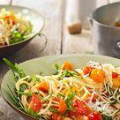 Pasta aglio olio mit Rucola und Tomaten von sesaschw   Chefkoch