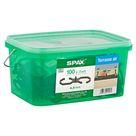 Spax Terrassendielen-Abstandhalter Kunststoff grau 4,5 mm 100 Stück