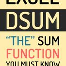 """Excel DSUM Function – """"The"""" Sum function you MUST know"""