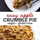 Gluten Free Vegan Apple Crumble Pie