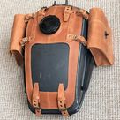 URAL fuel tank gas bags Genuine Leather with hole for toolbox   Etsy
