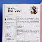 Resume Template Word  Cover Letter  Free Icons  Free Fonts | Etsy