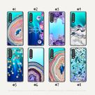 Huawei Phone Cases, Best Selling Agate Geode Design Clear Cases, Huawei P30 Lite Case, Huawei P20 Pro Case, Breathing Crystal & Aurora