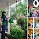 Retractable Pulley Plant Pots Hanging Pull Down Hanger
