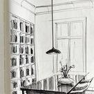 Räume einfach zeichnen. Perspektivisch zeichnen. Interior Design Skizzen interiordesign