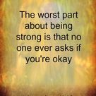 Being strong...