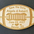 50 Football Save the Date Wedding Favor Magnets - Bride, Groom, Save the Date, Wedding Favours