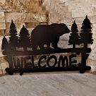 Bear Metal Sign,Bear Metal Decor, Bear Name Metal Sign, Custom Metal Sign, Custom Metal Hunting Sign, Personalized Hunting Gifts, Bear Welcome sign Afcultures Metal Sign - 30