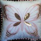 Nicole Miller butterfly pillow