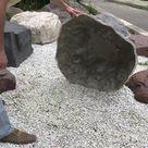 Findlinge Steine für Garten, Kunststein, Abdeckstein