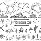 Rustic Monoline Icons and Designs