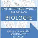 Materialpakete Unterrichtsentwürfe für den Biologieunterricht