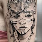 Trendy Owl Tattoos