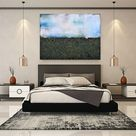 XL 121 x 91cm (48 x 36) Through The Mist of Fall Textured Abstract Painting by Susan Wooler
