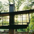 Steel and glass shelter in Virginia Blue Ridge Residence