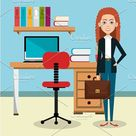 businesswoman in the office avatar