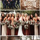 Top 8 Burgundy and Champagne Wedding Color Ideas