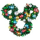 Disney Mickey & Friends 24.5-in Pre-lit Outdoor with Multicolor Ornament Artificial Christmas Wreath Lowes.com