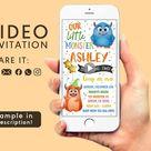Little Monster Invitation, Monsters Birthday Party, Watercolor Little Monster Video, Little Monsters Invitation, Party Monster Invite