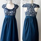Navy Lace Dresses