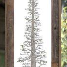 Wedding Guest Book, wedding guest book alternative, Wedding Tree, Wedding Sign, Redwood Tree
