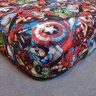 Fitted Crib Sheet Pillowcase Pack 'n Play Changing Pad Cover Marvel Superheroes Toddler Cotton Capta