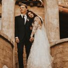 Bride and groom photos Palm Springs wedding