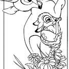 Kleurplaat van Bambi en z'n moeder