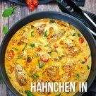 Hähnchen in Frischkäse Parmesan Soße, einfaches Rezept