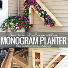 DIY Monogram Planter Tutorial