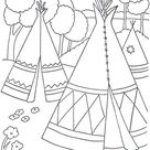 Kids-n-Fun | Coloring page Native Americans Native Americans