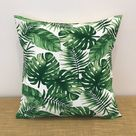 Palm Tree Leaves Cushion Cover Decorative Throw Pillow.   Etsy