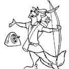 Robin Hood Had His Target Coloring Pages