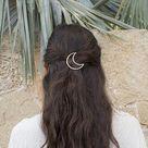 Minimalist bar circle. Hair jewel gold clip silver circular   Etsy