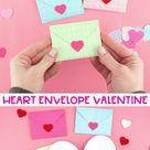Easy Heart Envelope- Free Printable Template