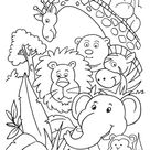 Party in jungle coloring page | Download Free Party in jungle coloring page for kids