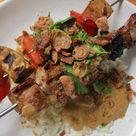 Sate babi bumbu kecap: Indonesian pork sate