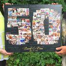 50th Wedding Anniversary Gift, 50th Birthday Decoration, Anniversary Gift for Wife, 50th Gift for women, 50th Birthday Gift, Photo Collage