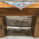 Winter Sale Hand Made Solid Oak Reclaimed Timber Railway Sleeper Garden Dining Study Bench