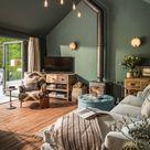 Grüne Wandfarbe | Trendfarbe | Moderne Wandgestaltung