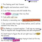 Teachers, Parents Free Social Emotional Learning Poster for School, Home Anxiety Coping Statements