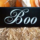 Wooden Halloween Signs
